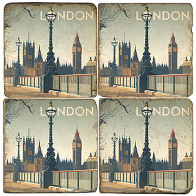 Westminster Abbey Coaster Set. Illustration by Anderson Design Group.