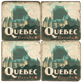 Le Chateau Frontenac Coaster Set.