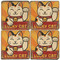 Lucky Cat Coaster Set. License artwork by Anderson Design Group.
