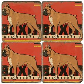 Boxer Deutscher Coaster Set. License artwork by Anderson Design Group.