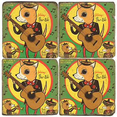 Chihuahua Coaster Set. License artwork by Anderson Design Group.
