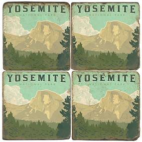 Yosemite National Park Coaster Set. License artwork by Anderson Design Group.