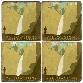 Yellowstone National Park Coaster Set. License artwork by Anderson Design Group.