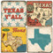 Greeting from Texas coaster set. Handmade Marble Giftware by Studio Vertu.
