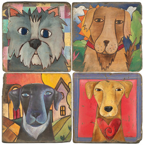 Love Dogs Coaster Set. License artwork by STICKS.
