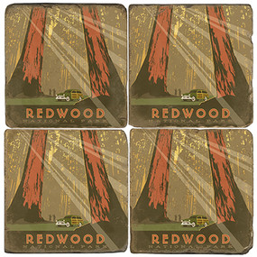 Redwood National Park Coaster Set. License artwork by Anderson Design Group.