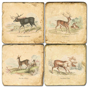 Deer Coaster Set.  Hand Made Marble Giftware by Studio Vertu.