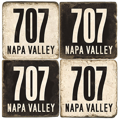 Napa Valley Area Code Coaster Set.