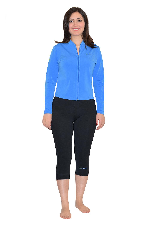 women beach sun clothing jacket and leggings