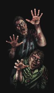 Zombies Halloween window poster