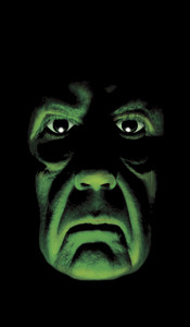 Green Demon Halloween Window Poster