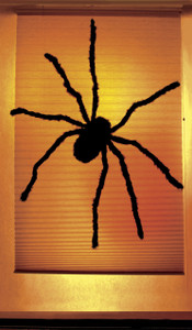 Black Widow Decorative Halloween Window Poster