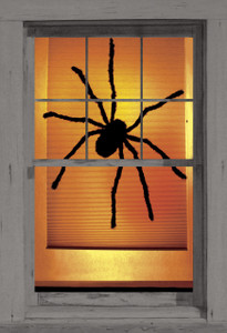 Black Widow poster as seen in a window