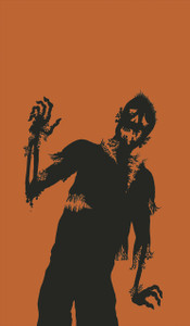 Zombie Silhouette Halloween Window Decoration