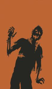 Zombie Silhouette Halloween Window Decoration