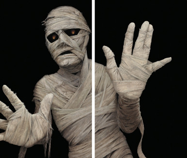 Menacing Mummy 2 part halloween window posters