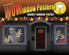 Menacing Mummy and Vampire Posters as seen in a house