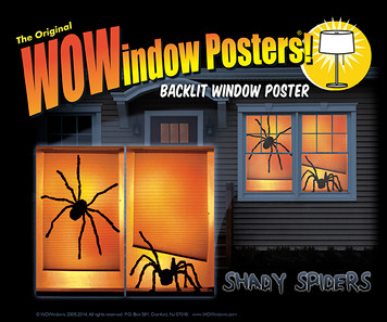 Shady Spider posters seen in a house at night