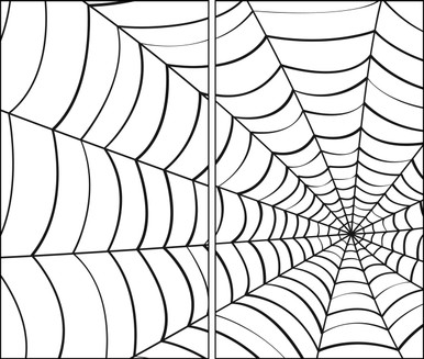 Spider Web 2 part Halloween window posters