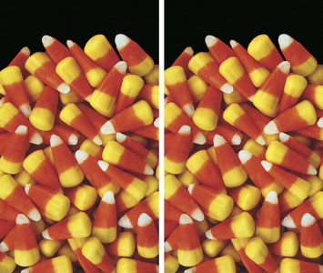 2 Halloween Window Posters of Candy Corn