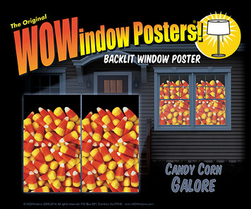 Candy corn posters as seen in a house.