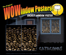 Catacombs posters in a house!