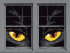 Yellow Cat Eyes as seen in adjoining windows