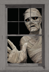 Mummy Poster as seen in a window