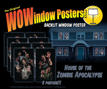 House of Zombie Apocalypse 8 posters as seen in a house creating a house full of zombies look