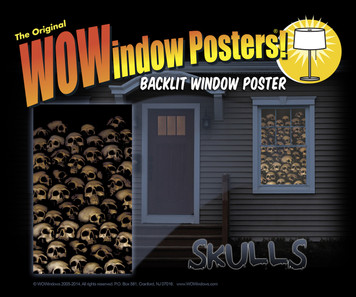 Decorative halloween poster of skulls as seen in a house