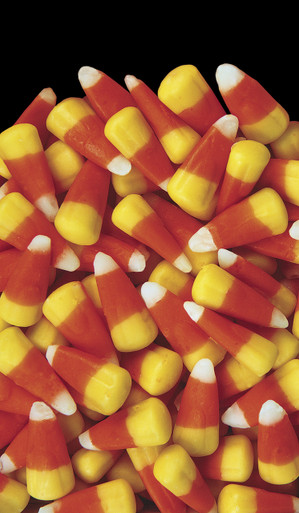 Candy Corn Decorative Halloween Window Poster