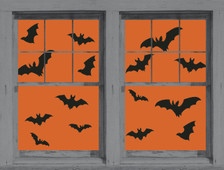 Make a Scene Bats Posters as seen in adjoining windows