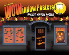 Make a Scene Bats and Jack O Lantern Posters as scene in a house