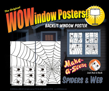 Make a scene spiders and web posters as a seen in a house