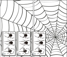 Make A Scene Spiders and Web Posters with 3 sheets of Spider Stickers