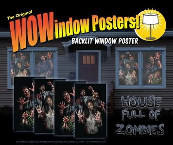 House full of zombies 4 posters as seen in a house