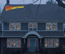 12 zombie posters as seen in a house