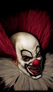 Slammy the Clown Halloween window poster
