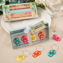 Beach Themed Flip Flop Wine Charms From White Dream