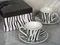 Stylish Espresso Coffee Collection Striped