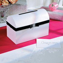 Wedding Card Box With Black Bow