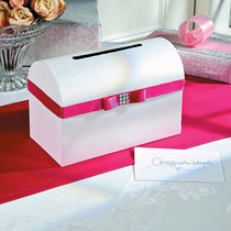 Wedding Card Box With Hot Pink Bow