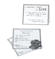 Typewriter Guest Cards Set of 48