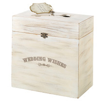 Wedding Wishes Wooden Key Card Box