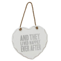 Juliana Wedding Collection Hanging MDF Plaque Happily Ever After