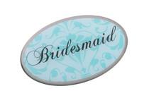 Bridesmaid Pin Oval Aqua