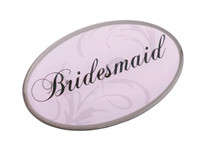 Pink Oval Bridesmaid Pin