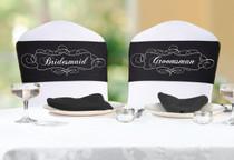 Chair Sash Set Bridesmaid And Groomsman