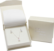 Sterling Silver Bridesmaid Gift Set 20in Chain Pendant Earrings