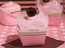 Sweet Treats Collection Pink Cupcake Towel Favour
